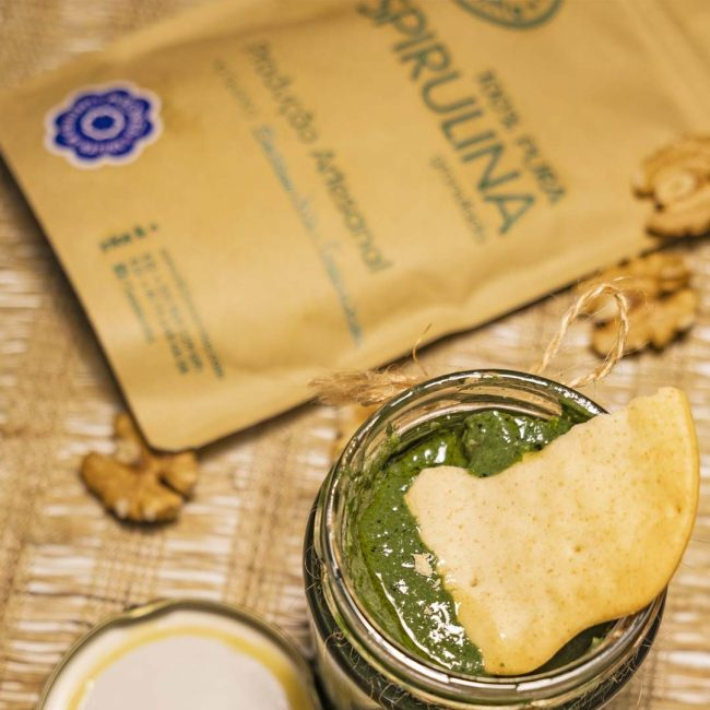 Spirulina recipe with cookie