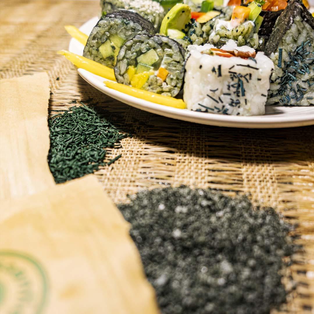 Spirulina how to make sushi