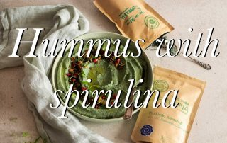 Hummus with spirulina